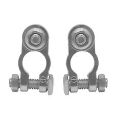 2 Positive & Negative Cargo Type Zinc Coated Battery Terminals Clamp Connectors