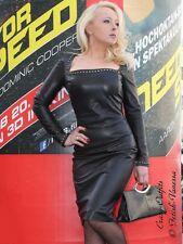 Lederkleid Leder Kleid Glamour Nieten Schwarz US 10 M 40