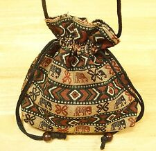 HILL TRIBE HMONG WOVEN FABRIC PURSE WALLET POUCH TRAVEL SLING BAG HANDCRAFT