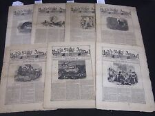 1860 UNITED STATES JOURNAL NEWSPAPER LOT OF 7 - ABRAHAM LINCOLN - NP 2052