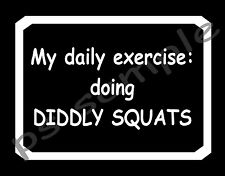 DIDDLY SQUATS -- MY DAILY EXERCISE - Fridge Magnet