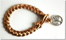 Bracelet tressé arbre de vie bijou mode fantaisie beige