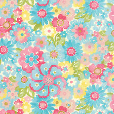 MODA Fabric ~ COLETTE ~ by Chez Moi (33052 12) Blossom/Sky - by 1/2 yard