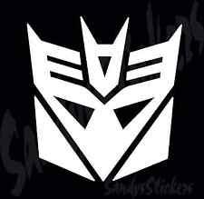 2 Transformers Decepticons Vinyl Decals Stickers - Many Colors! Decepticon