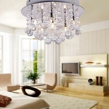 Crystal Living Room Pendant Lamp Lighting Ceiling Rain Drop Chandelier Modern