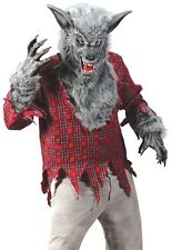 WereWolf Costume Adult Silver Gray Deluxe Cosplay Were Wolf WareWolf - Fast Ship