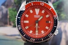 Sporty Seiko Red Dial Larger Divers Automatic 7002 7000 Date Pepsi Bezel 42mm