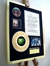 "THE BEATLES SOMETHING 7"" SINGLE GOLD RECORD LYRICS RECORD DISPLAY"