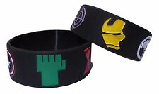 Marvel Comics The AVENGERS Silicone Bracelet WRISTBAND Set of 2
