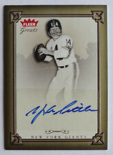 Y.A. Tittle 2004 Fleer Greats of the Game Auto #YT New York Giants Sig