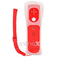 Mando Remote para WII Color ROJO + Funda de Silicona + Correa a541