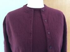 Jaeger burgundy red cashmere cardigan & jumper twin set vintage size 12