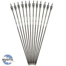 "New 30"" Carbon Shaft Arrows Sp500 Archery Arrow Metal Tips F R&C Bow Hunting X12"