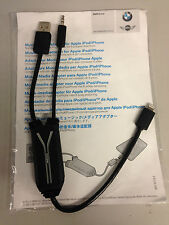 GENUINE BMW Y CABLE FOR iPHONE 5 / 6 OR iPOD CHARGING WITH LIGHTNING 61122287505