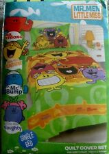 New Licensed The Mr Men Show Little Miss Single Quilt Cover Set kids favourite