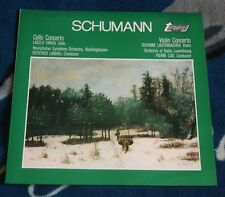 SCHUMANN CELLO CONCERTO / VIOLIN CONCERTO UK LP TURNABOUT VARGA / LAUTENBACHER