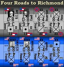 Four Roads to Richmond Variant Counters for Avalon Hill's Chancellorsville
