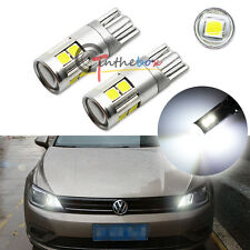 2PC Extreme Bright T10 W5W 2825 9-3030-SMD LED Bulbs For Car Parking City Lights