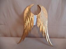 """Angel Wings Gold Tin Metal Feathers 9 1/2"""" x 7 1/2""""  NEW"""