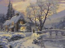 Thomas Kinkade1000 Piece Puzzle with Cottage Covered in Snow Ceaco