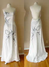ALYCE DESIGNS EMBROIDERED EVENING FORMAL COCKTAIL DRESS GOWN WEDDING PROM