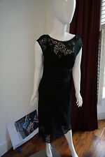 Karen Millen Black Lace Dress Size UK12