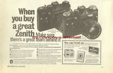 Zenith TTL / EM Camera 1980 Magazine Advert #3733