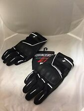 JOE ROCKET MENS SUPERMOTO TOUCH RACING GLOVES  BLACK WHITE SIZE XXL  REAL PICS