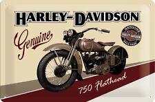 Harley Davidson Flathead Bike Blechschild Schild Blech Metal Tin Sign 20 x 30 cm