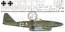 "Peddinghaus 1/48 Me 262 A-1a ""White 5"" Markings Eduard Schallmoser 1945 EP850"