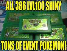 POKEMON LEAFGREEN All 386 SHINY GAME UNLOCKED AUTHENTIC!