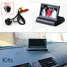 "TFT 4.3"" Fold-up Color Screen Monitor + 360° CCD HD Parking Reverse Camera Kits"