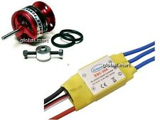 EMAX CF2822 1200KV Brushless Motor w/Prop Saver + HOBBYPOWER 30A ESC airplane