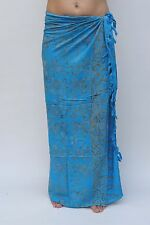 NEW EXTRA LARGE LONG UNISEX PREMIUM QUALITY BLUE BEACH WRAP SARONG BNIP /saL530P