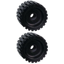 """2 Pack 3"""" Wide x 4-3/8"""" OD Boat Trailer Black Rubber Ribbed Wobble Rollers"""