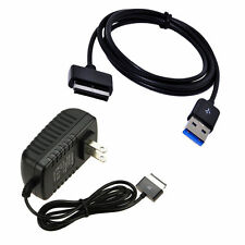AC Wall Plug Charger+USB Data Sync Cord Cable for ASUS Transformer Pad TF300T