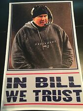 "NEW ENGLAND PATRIOTS ""IN BILL WE TRUST"" POSTER 11X17 BILL BELICHICK"