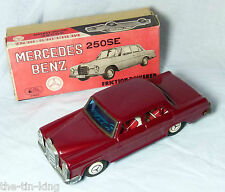 RARE BOXED FRICTION DRIVE MERCEDES BENZ 250SE MADE IN JAPAN NEAR MINT