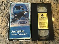 SEA WORLD NEW FRIENDS RARE OOP VHS! NOT ON DVD 1989 THEME PARK TOUR SHAMU WHALE!