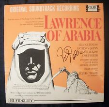 Hand Signed LAWRENCE OF ARABIA Soundtrack Vinyl Album by PETER O'TOOLE + COA