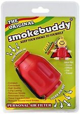 Smoke Buddy Original Personal Air Purifier Cleaner Filter Removes Odor - Red