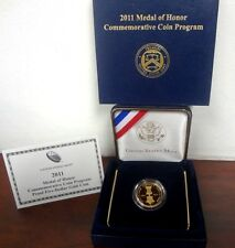 2011 Medal of Honor Commemorative Coin Program Gold Proof $5 / Box & Coa
