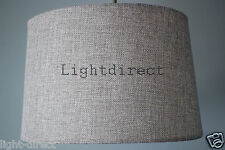 GREY LINEN EFFECT EMPIRE DRUM LAMPSHADE FOR  CEILING OR TABLE LAMP