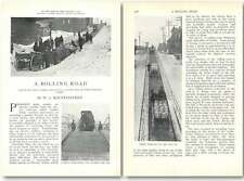 1907 The Ingenious Rolling Road Up Factory Street Cleveland Ohio Article