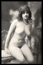 Pretty lady nude risque reproduction photo postcard unused