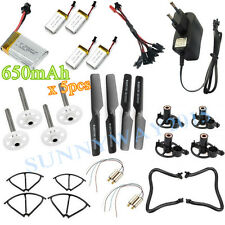 5*Battery(650mAh)+Charger+1V5 Cable+4*Motor+4*Blade+4*Gear For JJRC H8C/H8D/F183