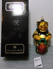 Radko Disney Winnie the Pooh Halloween Glass Christmas Ornament Mint MIB+Tag