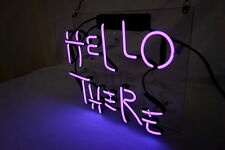 "HELLO THERE HOME LAMP Jean Cap Sofa Floor POSTER GLASS NEON LIGHT SIGN 12""X10"""