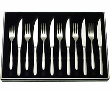 Stellar Winchester Stainless Steel 12 Piece Steak Knife & Fork Set - BW36