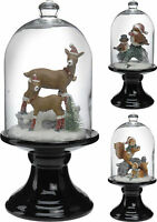 31cm Vintage Style Christmas Bell Glass Christmas Decoration Animals Ornament
